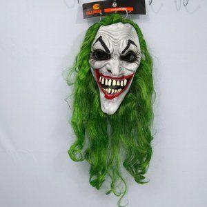 ⭐🎃 Long Green Hair Joker Halloween Mask NWT